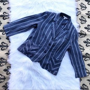 Blue Cabi Nautical Linen Striped Jacket 6